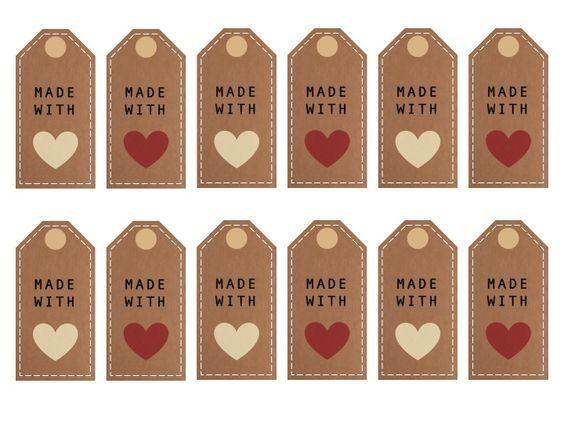 made with love printables print forskelligt pinterest geschenke geschenkanh nger und. Black Bedroom Furniture Sets. Home Design Ideas