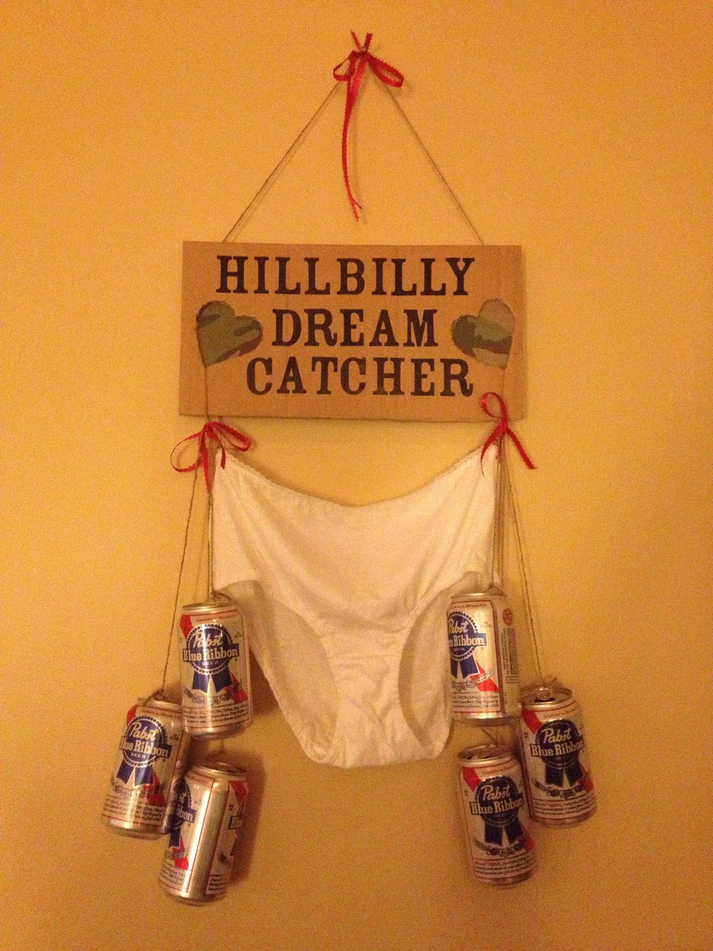 Hillbilly dream catcher pretty easy to diy made this as a gag hillbilly dream catcher pretty easy to diy made this as a gag gift for a redneck themed bachelorette party solutioingenieria