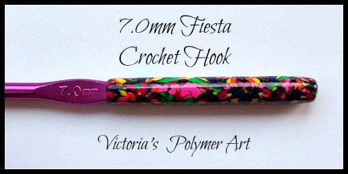 Aluminium Crochet Hooks Decorated With by VictoriasPolymerArt, £4.50