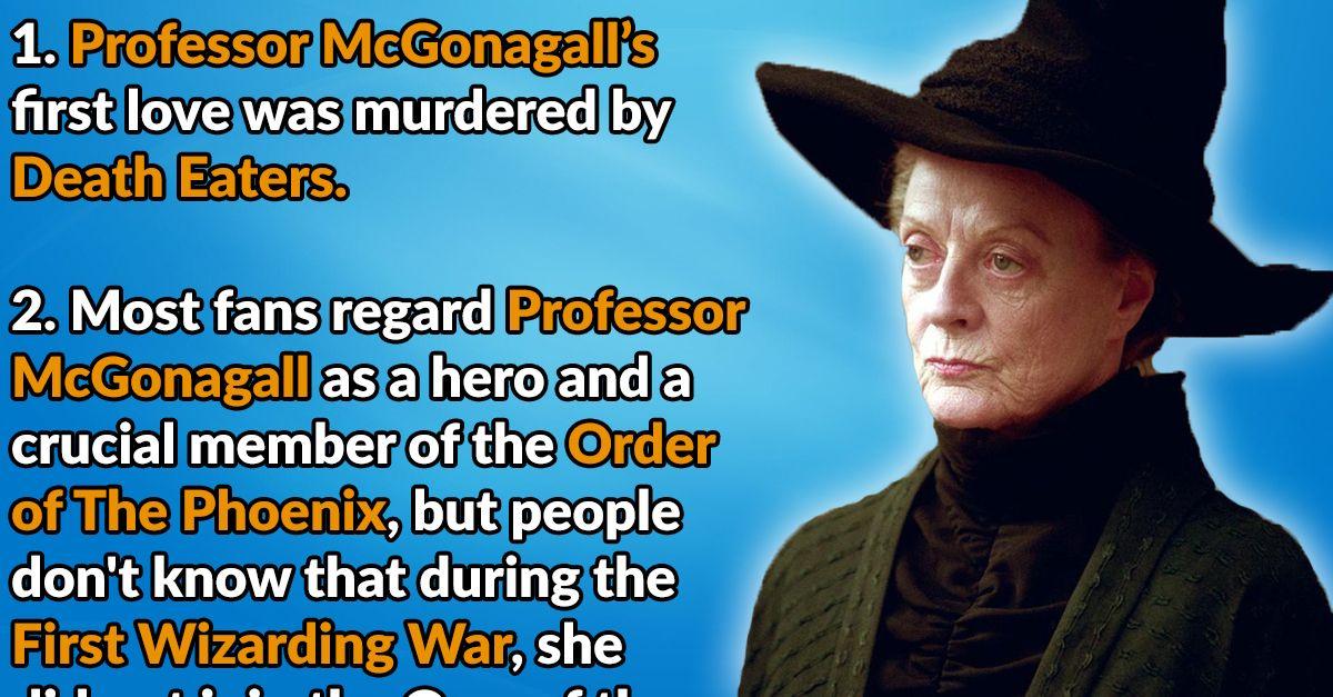24 Transfigured Facts About Professor Minerva Mcgonagall Minerva Harry Potter Fun Facts Professor Flitwick