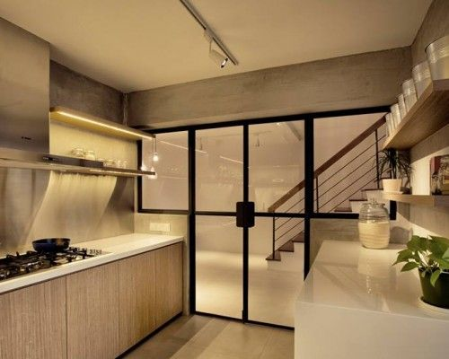 Shelves Instead Of Top Cabinets For This Kitchen Interior Design Help Interior Design Interior Design Singapore
