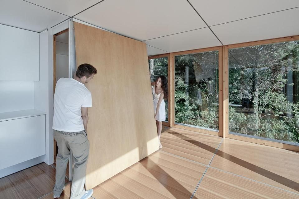 Mima House, A Prefab With Movable Wall Panels That Allow The