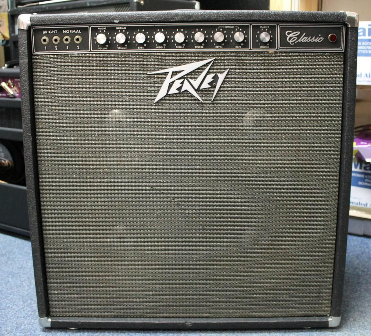 Peavey Classic (Series A, made in 1974), valve hybrid 4x10 guitar amplifier