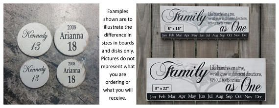 Calendrier familial de cadeau de Noel de grand-mère, arbre de famille personnalisé assemblé bois de panneau danniversaire, calendrier danniversaire en bois, conseil de célébrations