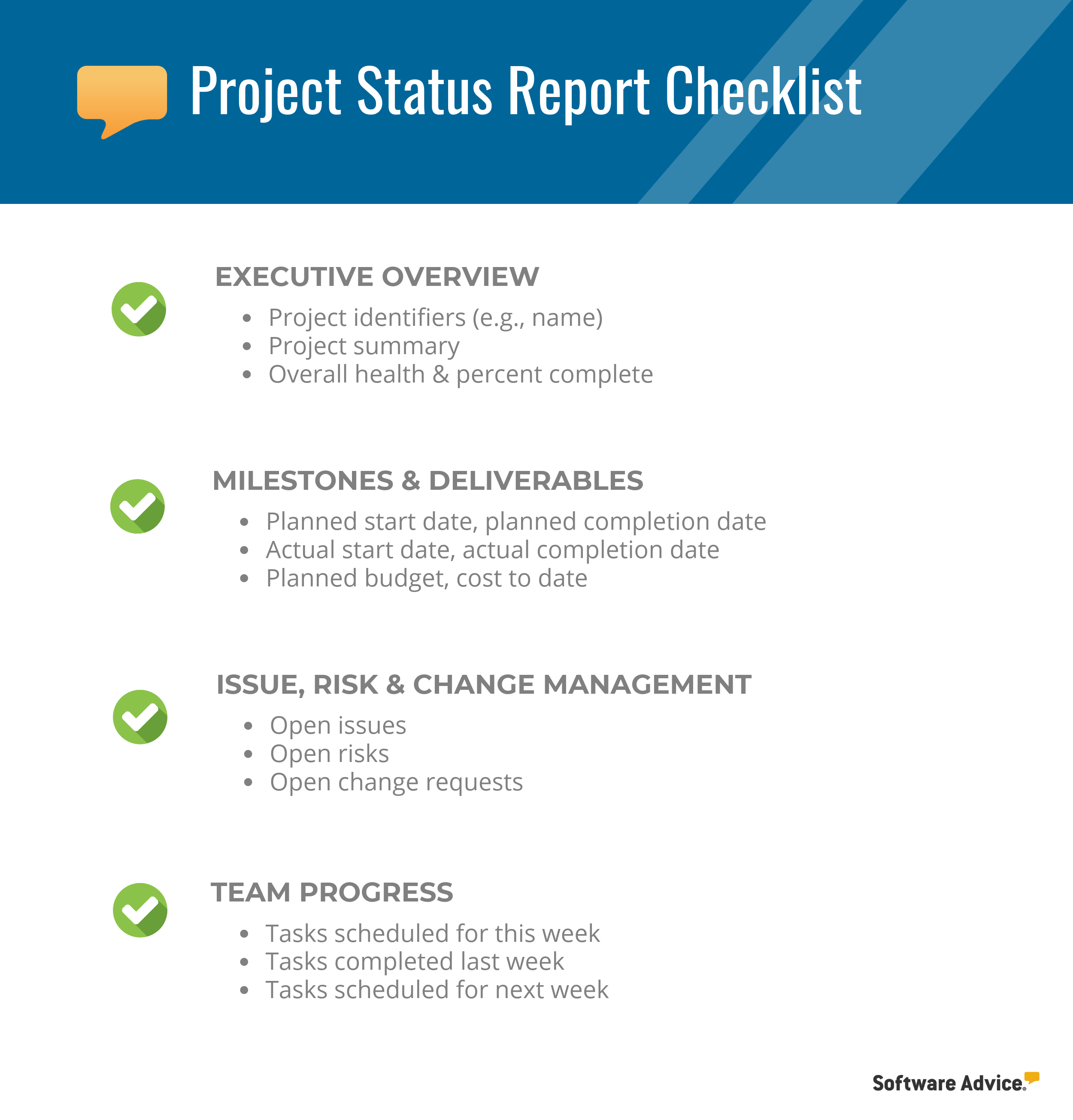 Simple Updates To Transform Your: Project Status Report Checklist