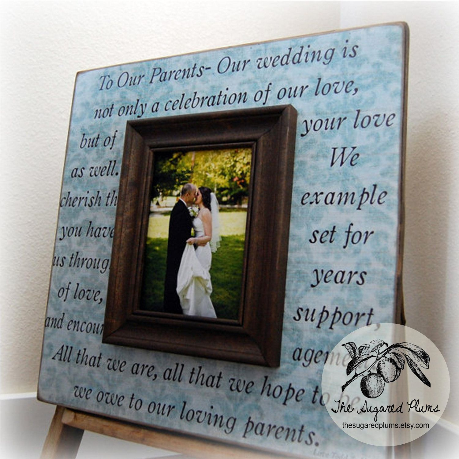 Thank You Gifts For Parents Wedding: Parents Gift Personalized Picture Frame Wedding Gift