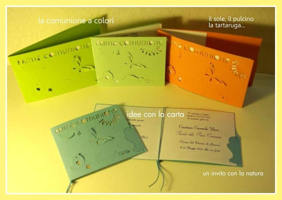 inviti, prima comunione, card, tema natura
