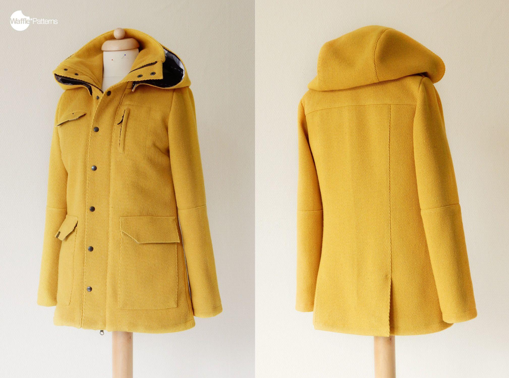 Waffle Patterns pdf sewing patterns Utility Jacket Tosti | Áo jacket ...