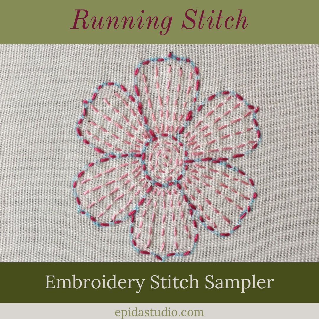Stitching A Motif With Running Stitch