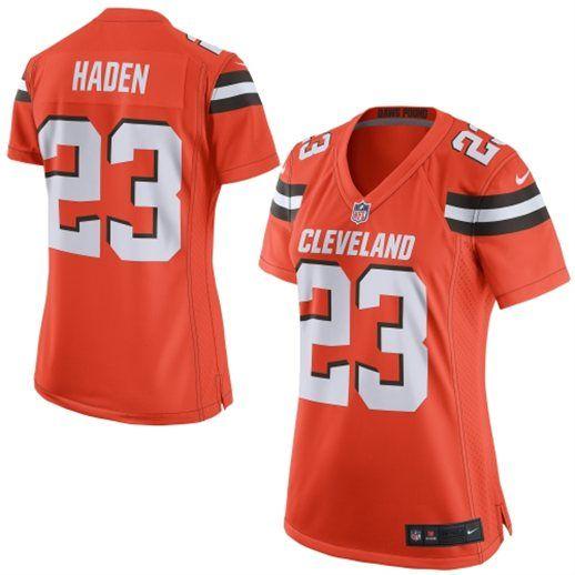 Nike Joe Haden Cleveland Browns Women s Orange Game Jersey ... 384afa6de