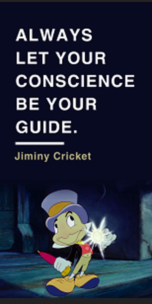 jiminy cricket o disney and pixar love Pinterest