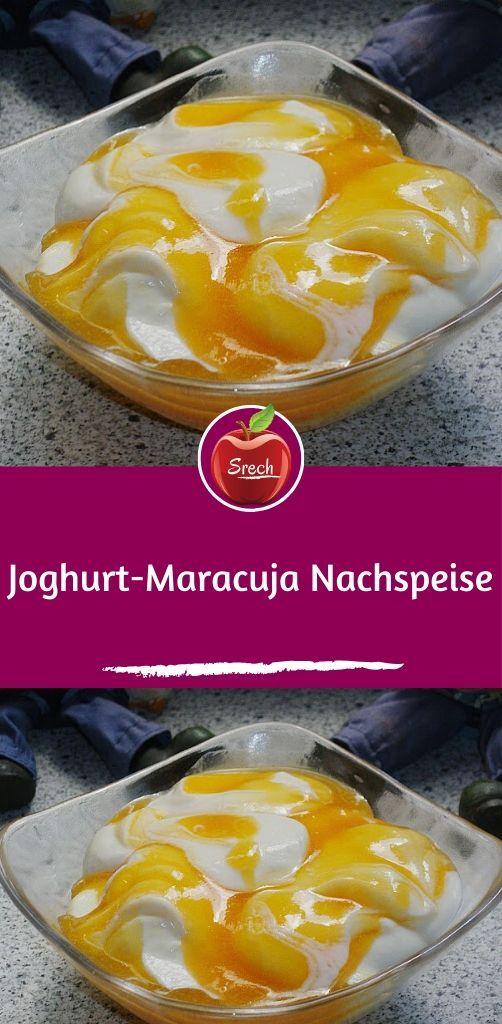 Joghurt-Maracuja Nachspeise #partyideen