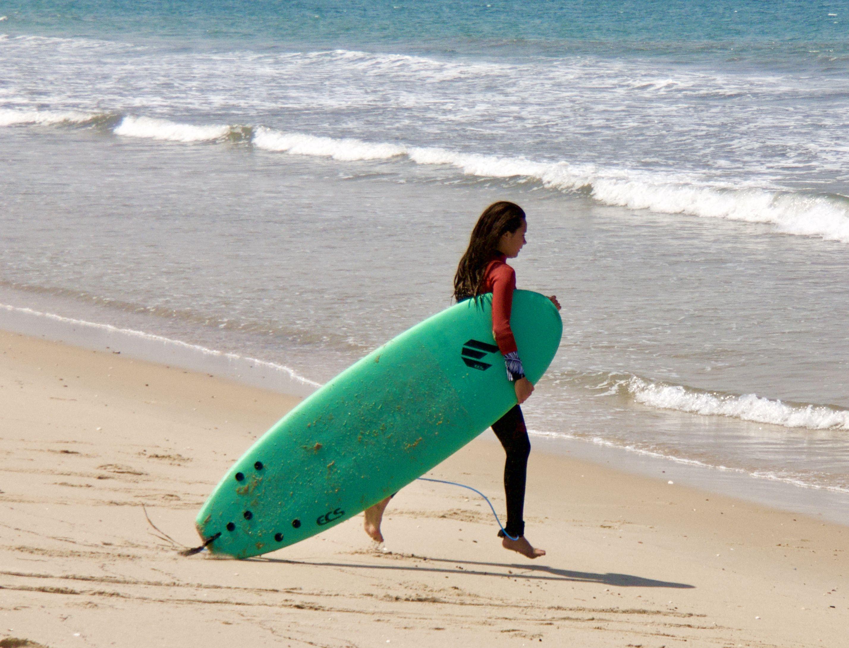 Surf Girl In 2020 Surfing Surf Girls Sand Surfing