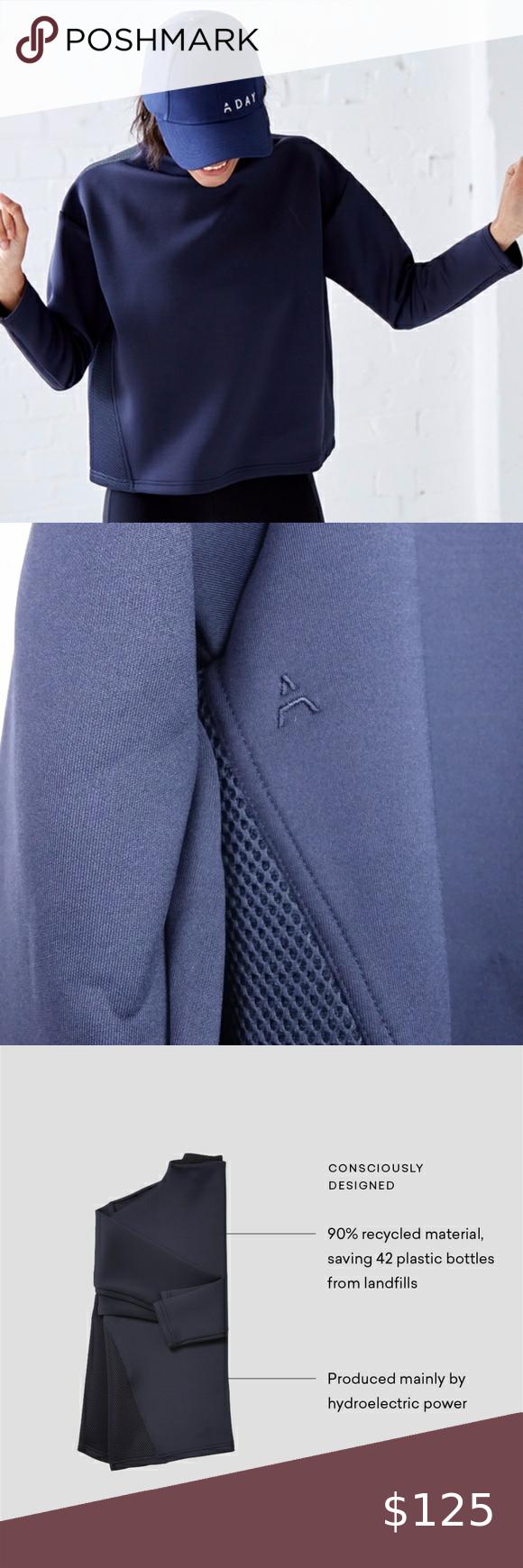 Like A Boss Sweatshirt Navy With Mesh L Sweatshirts Clothes Design Women Shopping [ 1740 x 580 Pixel ]