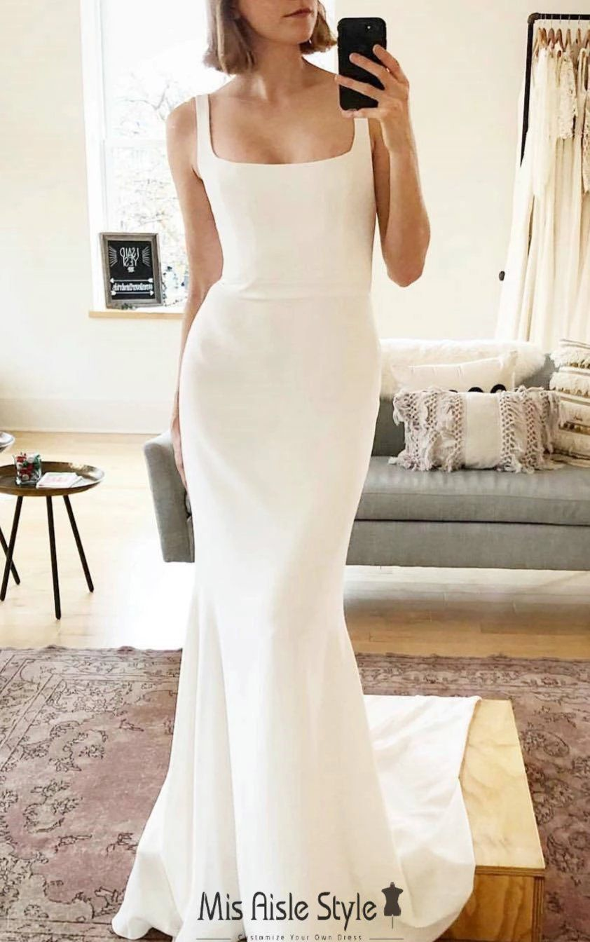 40++ Square neckline wedding dress with sleeves ideas in 2021