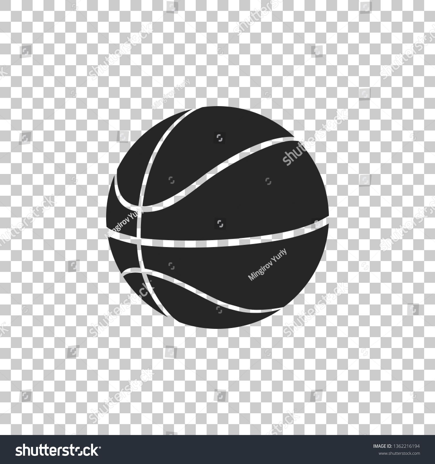 Basketball Ball Icon Isolated On Transparent Background Sport Symbol Flat Design Vector Illustration Ad Aff Basketball Ball Illustration Abstract Design