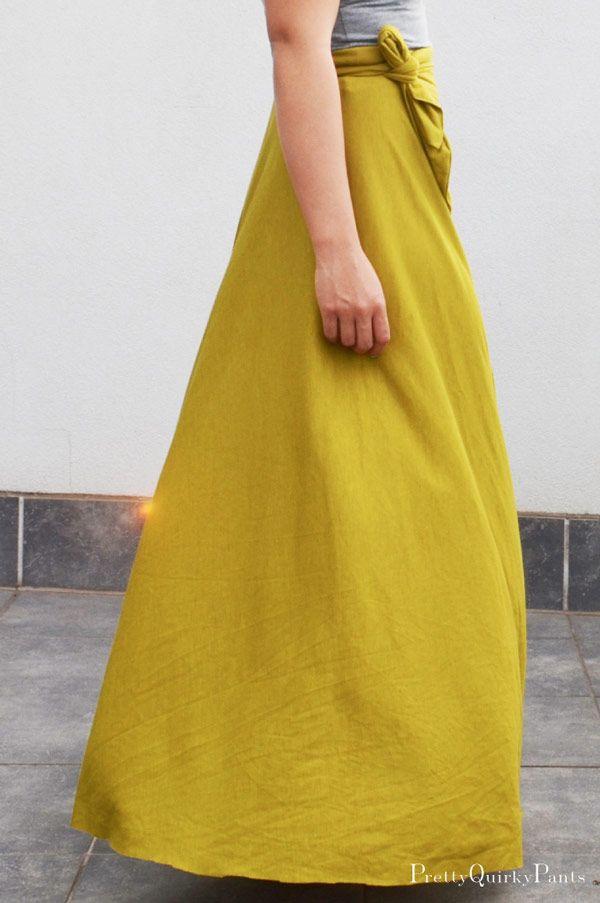 DIY : Jupe longue demi cercle, nouée à la taille | Diy jupe