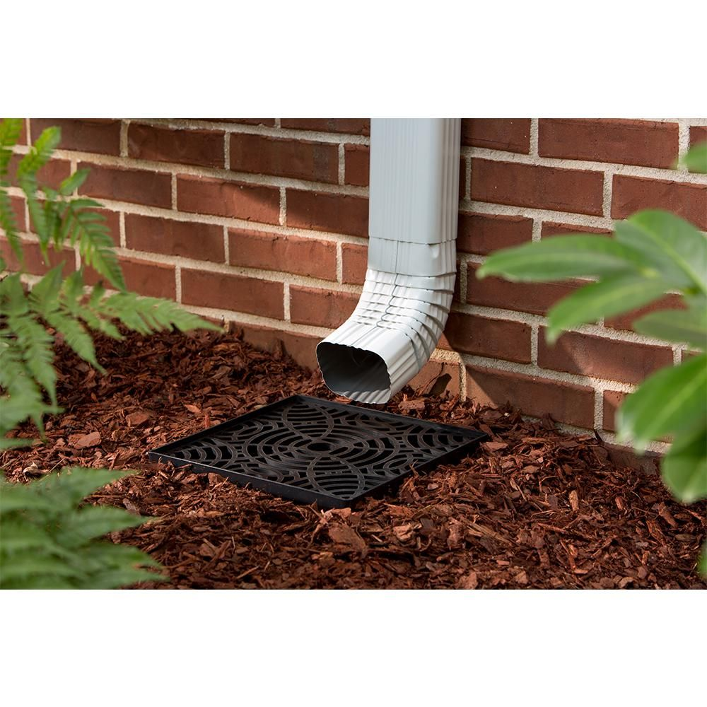 Unbranded 12 In Low Profile Catch Basin Downspout Extension 4700 The Home Depot Downspout Seamless Gutters Yard Drainage