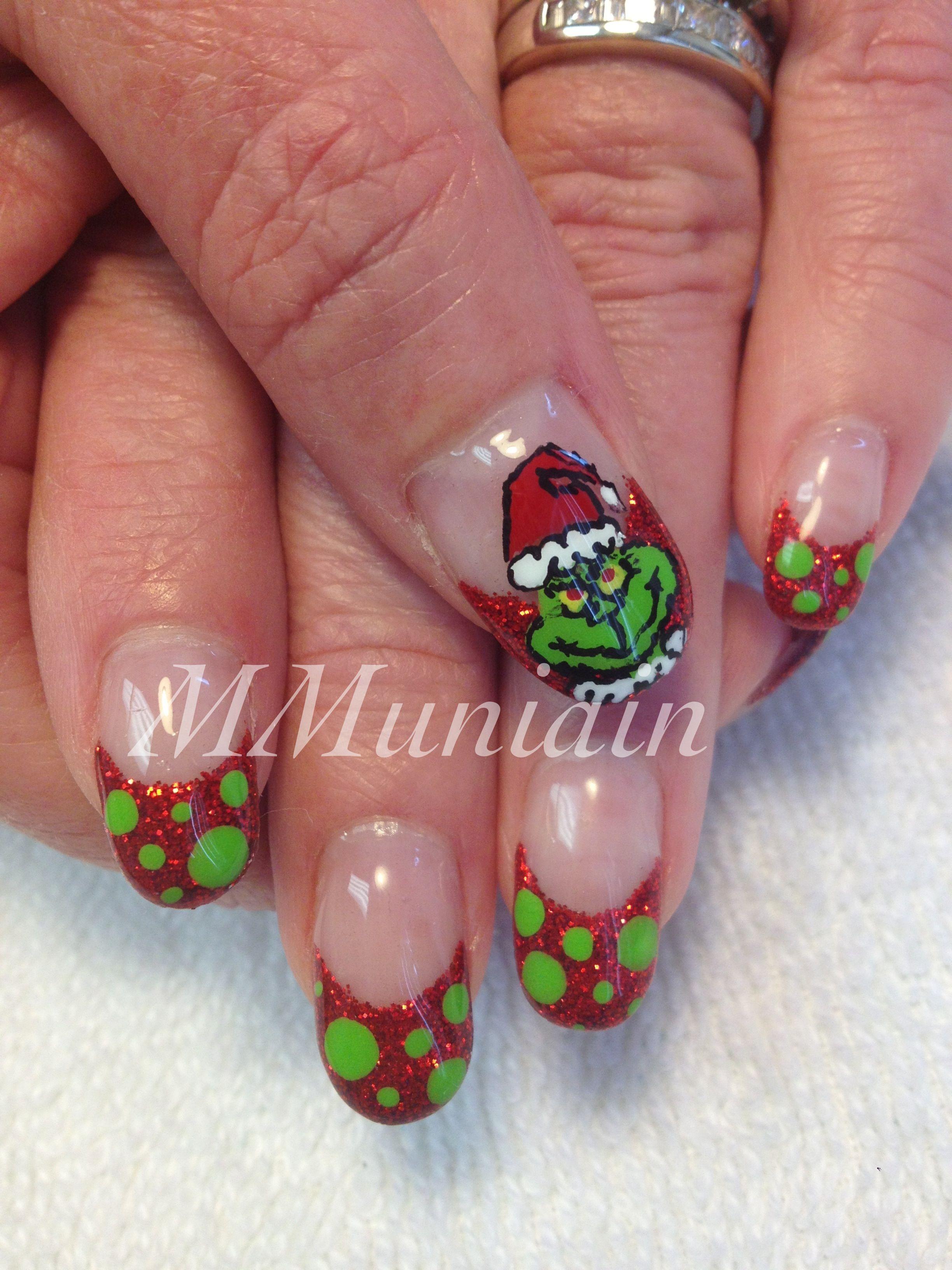 Grinch nails   Nail Designs   Pinterest   Grinch, Winter nails and ...