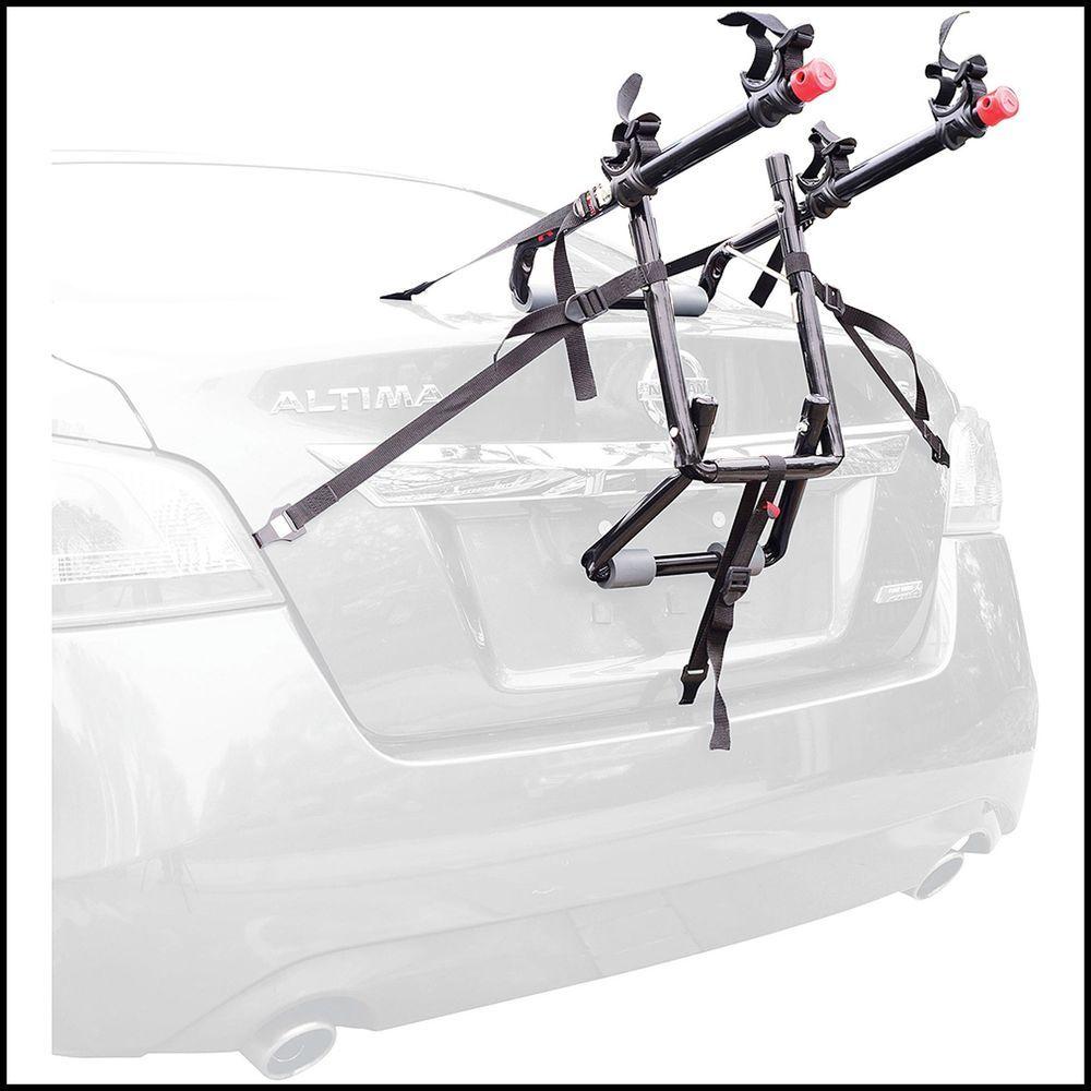 Car Trunk Mount 2Bike Deluxe Rear Carrier Travel Rack