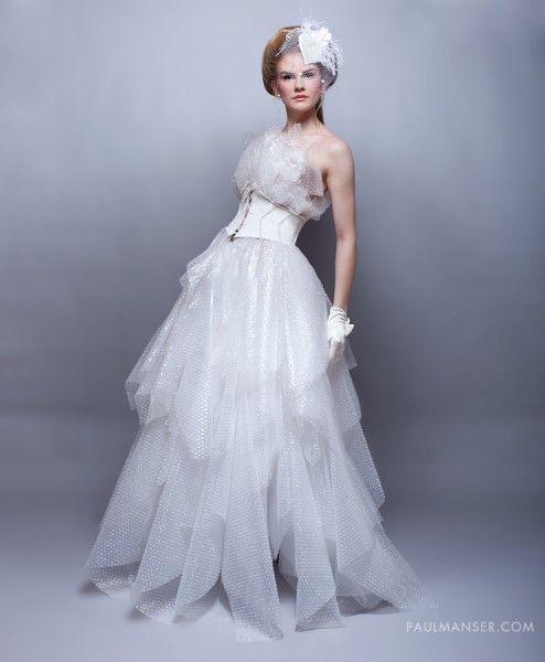 Recycled Wedding Gowns: Bubble Wrap Wedding Dress By Www.dumpsterdesign.co.uk