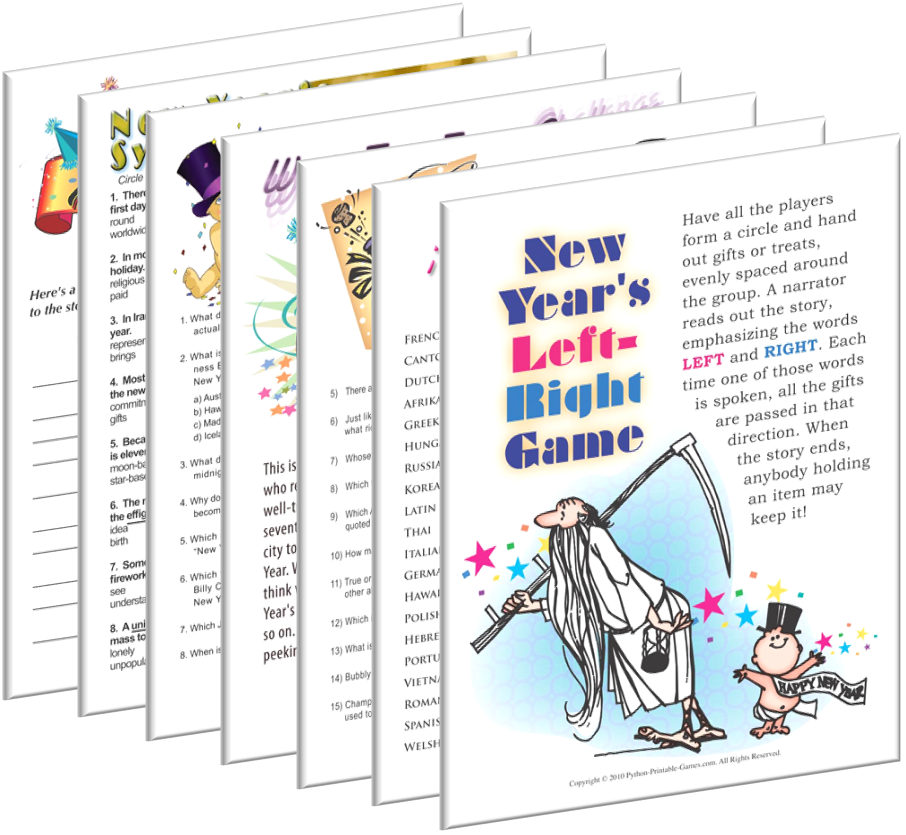 printable new years party games new year s eve party activities rh pinterest com chinese new year party games 2018 new year party games printables