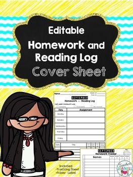 homework cover sheet template