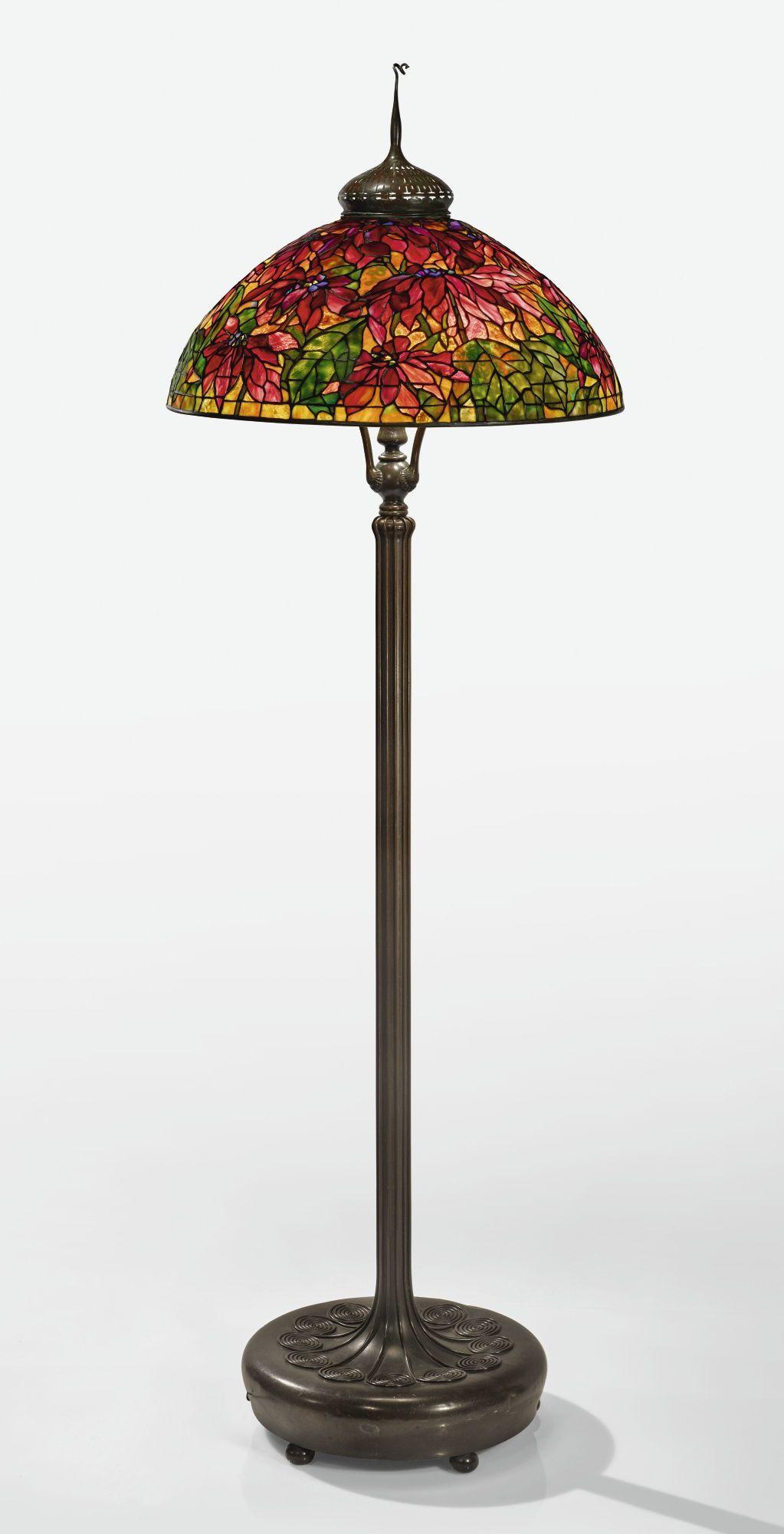 Tiffany Studios A Rare Poinset Lighting Sotheby S