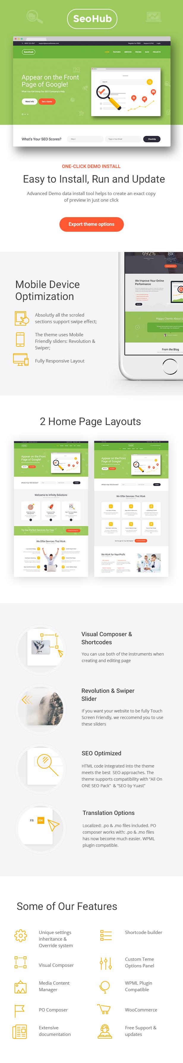 SEOHub - SEO & Marketing WordPress Theme   Seo, Wordpress and ...
