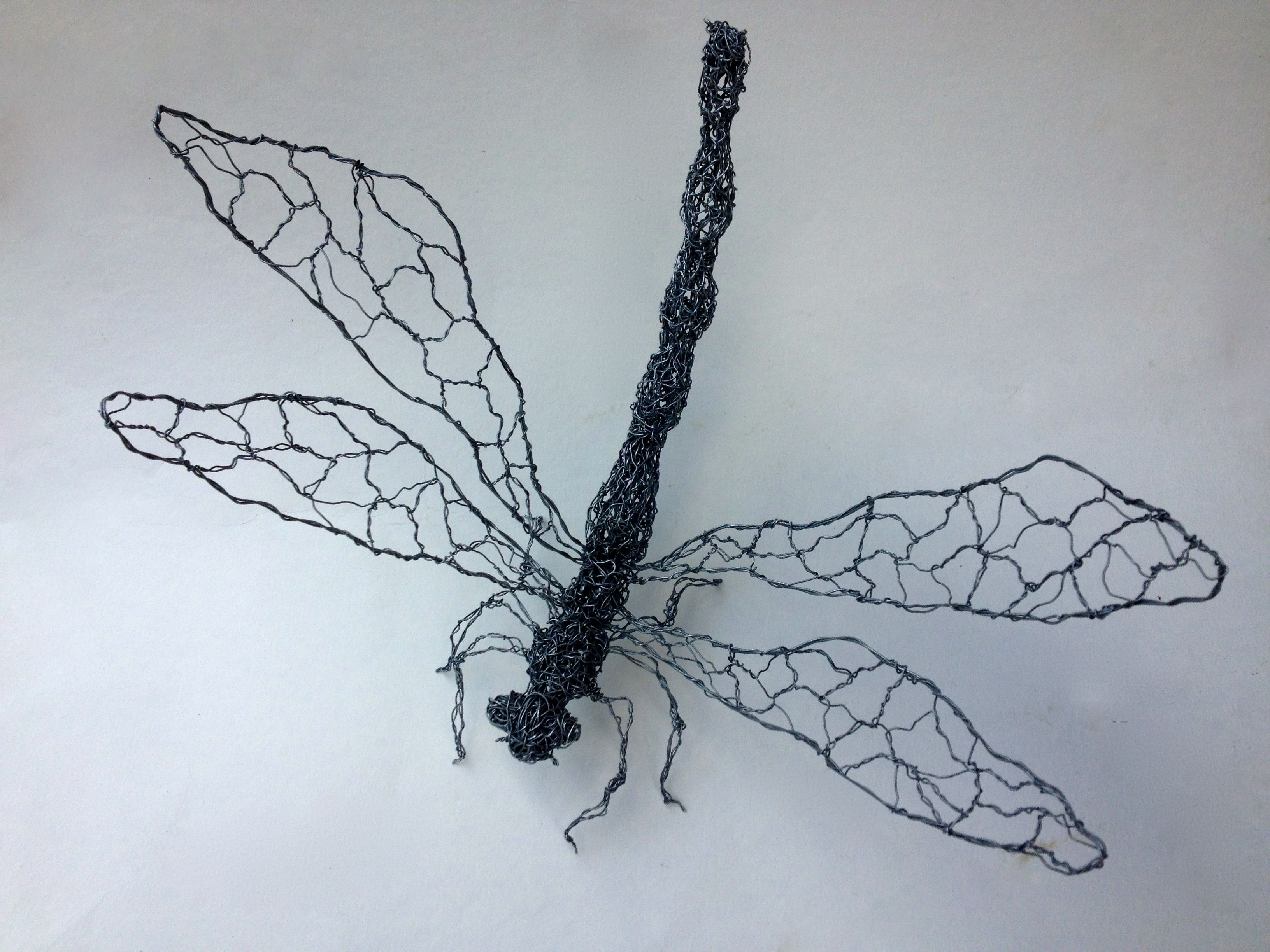 dragonfly, galvanised wire sculpture, approx. 26x29 cm, by… | art ...