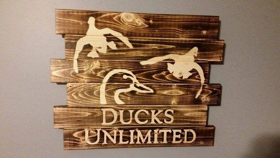 Ducks Unlimited Wall Art By Carolinapalletdesign On Etsy