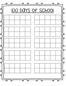 Perfect To Keep Track Of The First 100 Days Of School Calendar