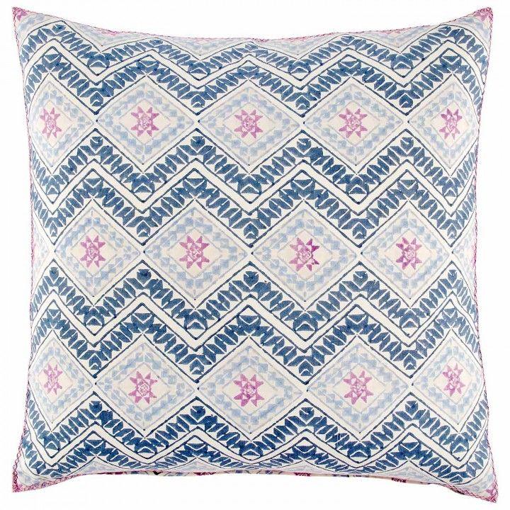 Kojova Euro Euro pillow, Block printed pillows, John robshaw