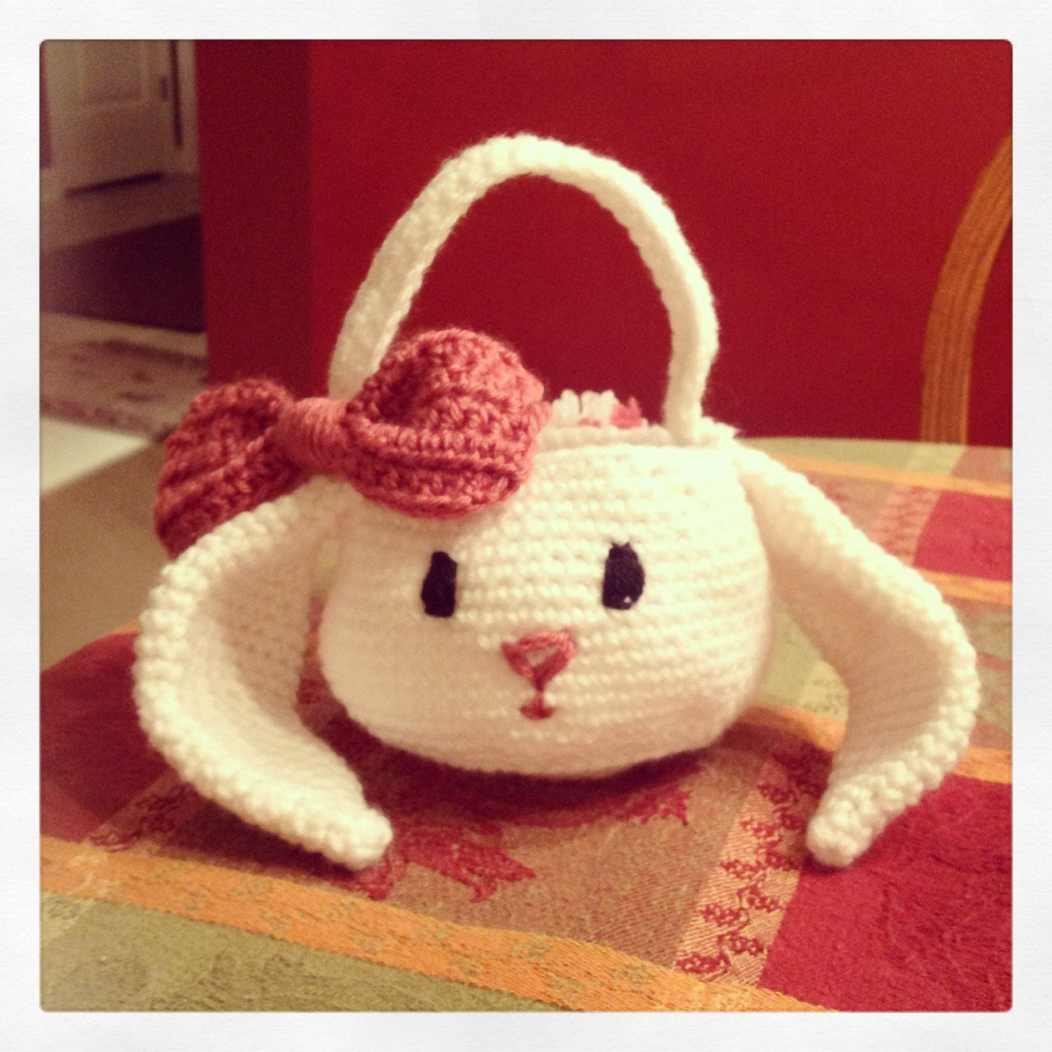 Crochet Bunny Easter Basket by JillieJennCreations on Etsy ... - photo#9