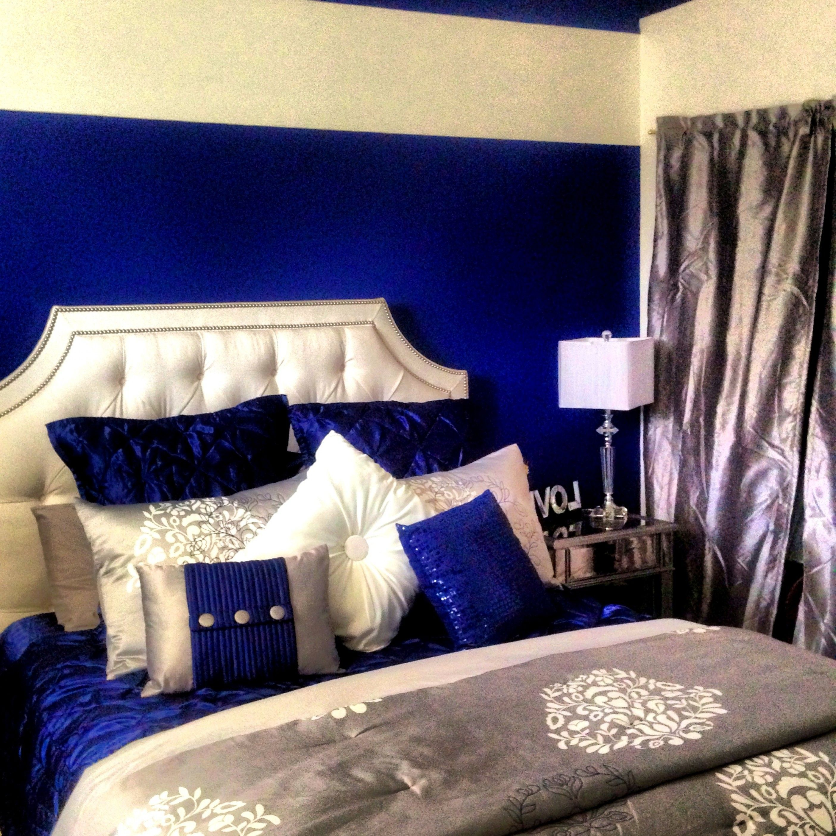 Royal Blue And Black Bedroom Ideas Home Sweet Home Royal Blue Blue Room Decor Blue Bedroom Decor Blue And Gold Bedroom
