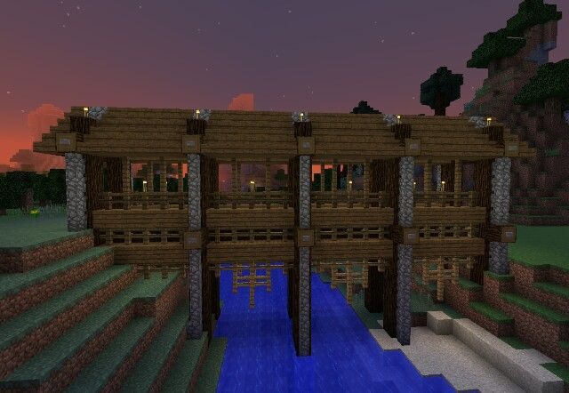 A Bridge Idea I Like For Minecraft Minecraft Building Minecraft Houses Minecraft Construction