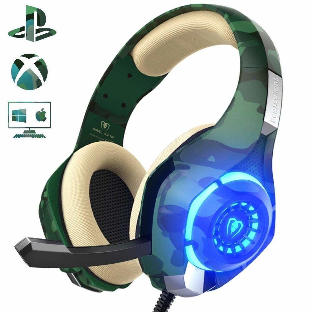 Camo Gaming Headset Best Fortnite Cool Gamer Headphones