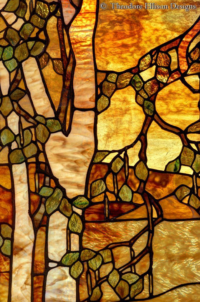 detail - Tonalist Landscape Window by Theodore Ellison