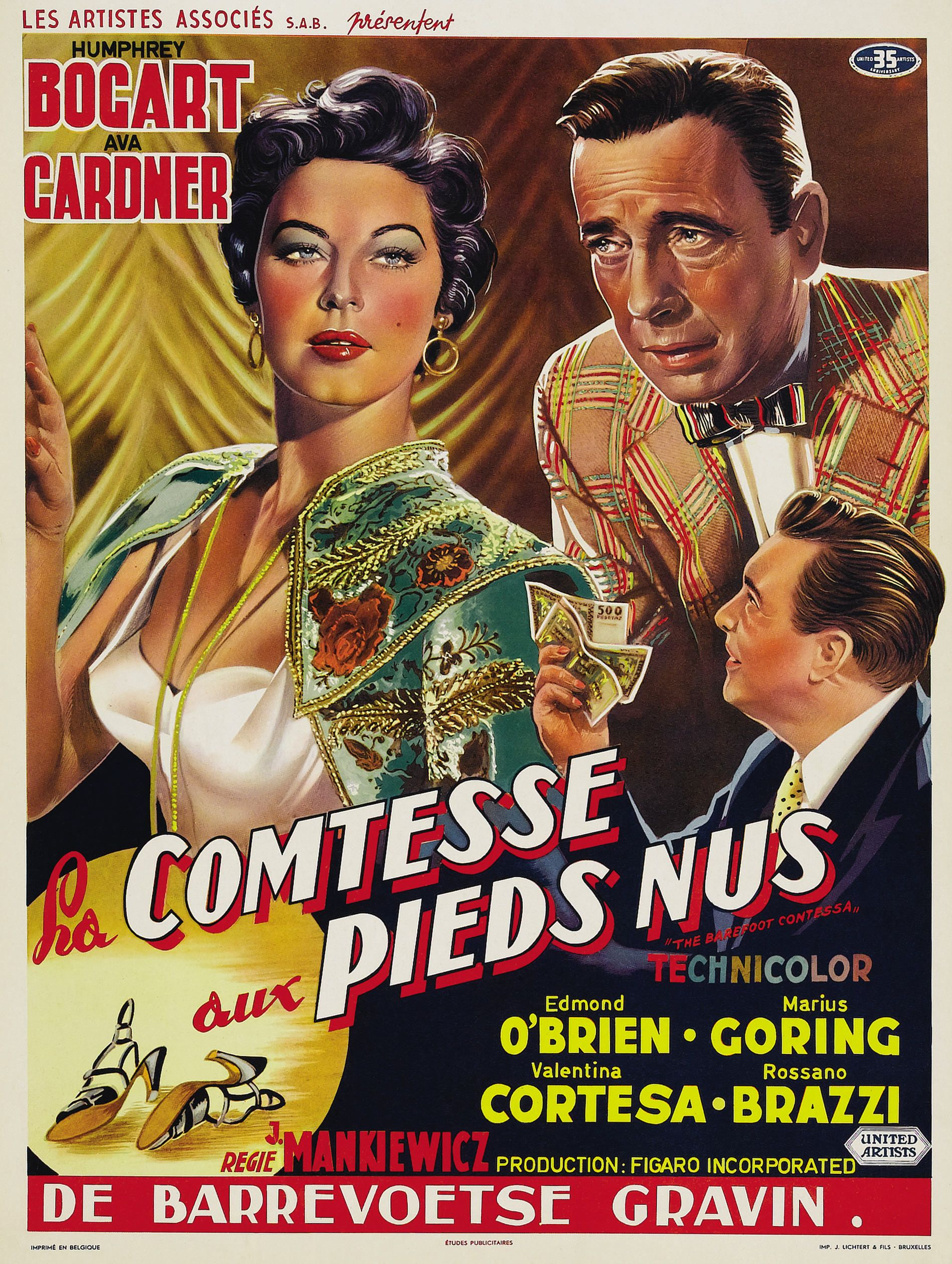 The Barefoot Contessa 1954 Belgian