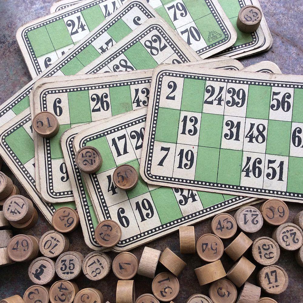 French bingoloteria set bingo loteria french