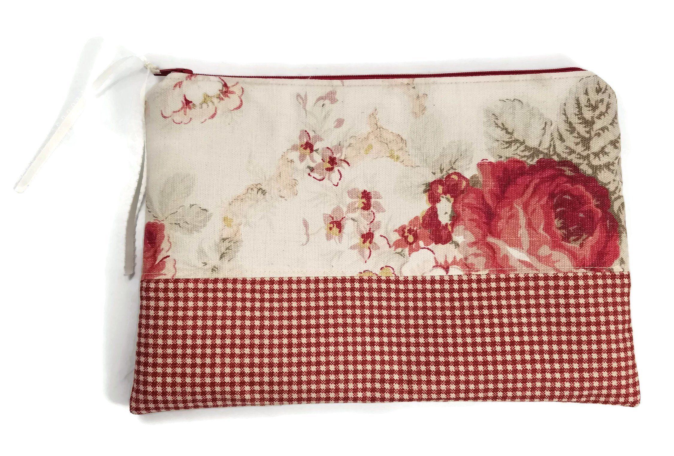 Floral Makeup Bag, Cosmetic Bag, Toiletry Bag, Large