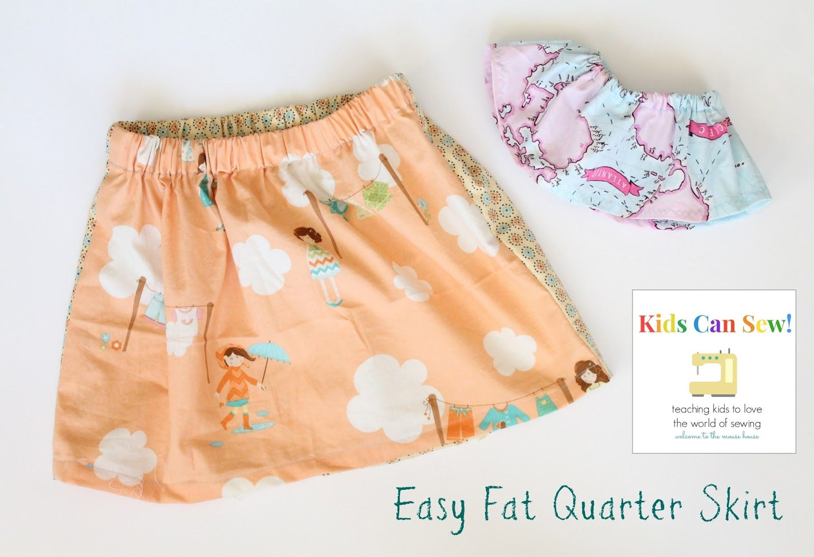 Diy Fat Quarter Projects Simple Fat Quarter Skirt Little Stitchers Sewing Diy