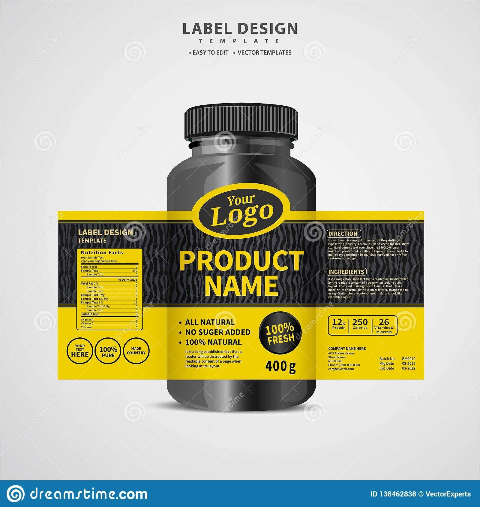 Pill Bottle Labels Template Lovely Bottle Label Package Template Design Label Design Mock Up Desig Label Design Packaging Labels Design Bottle Design Packaging