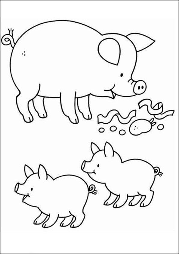 Bauernhof Kostenlose Ausmalbilder Zeichnung Ausmalbilder Baby Nutztiere Schnittmuster Fur Stofftiere