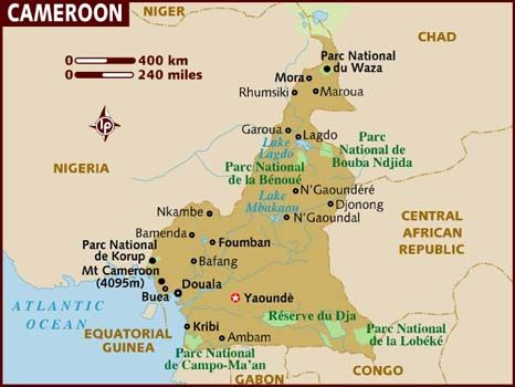 west africa map cameroon