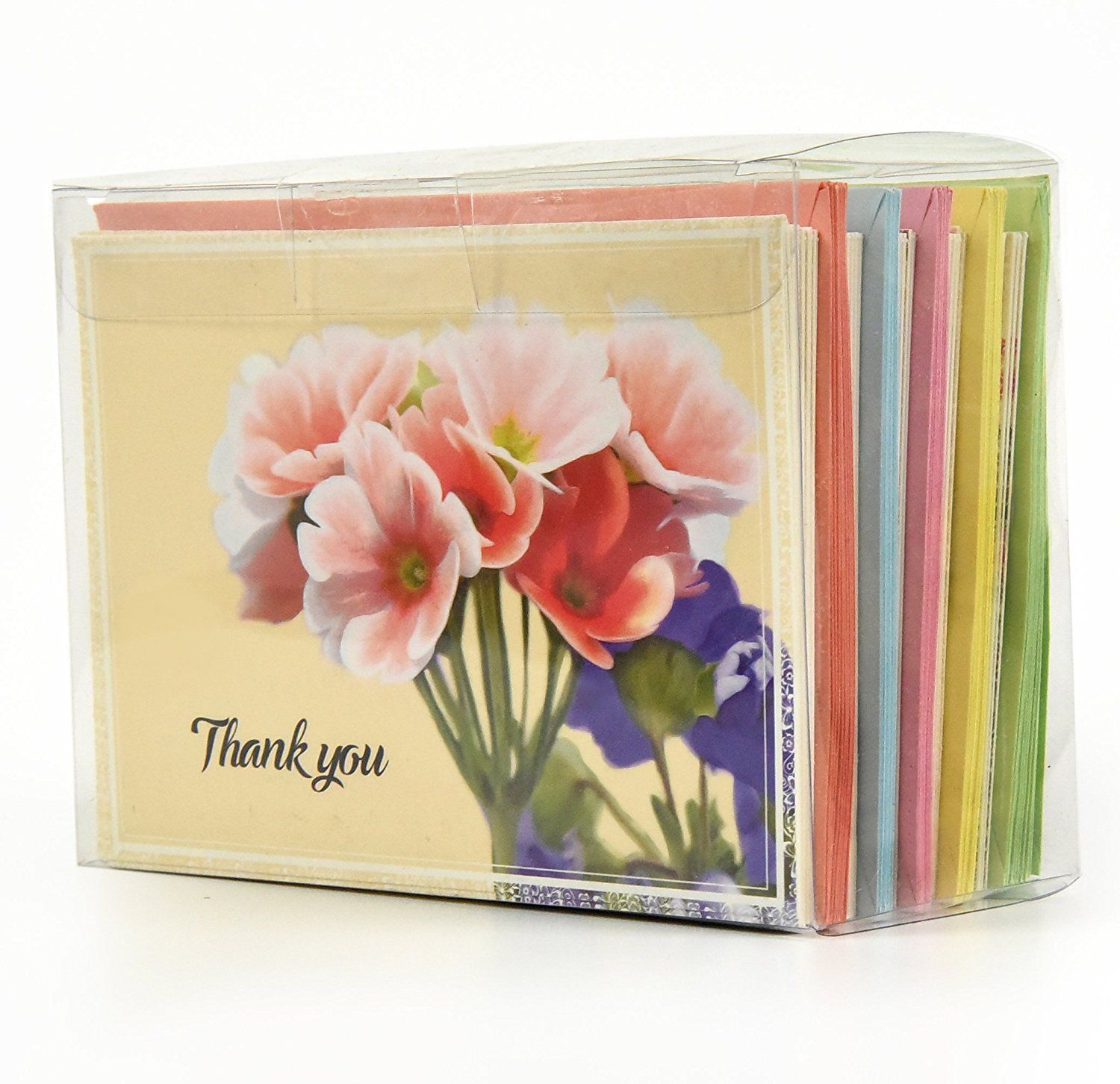 50 Pack Of All Occasion Handwritten Style Thank You Greeting Cards