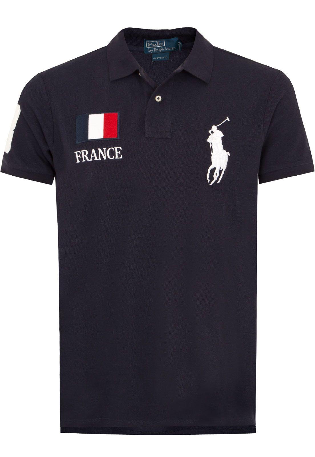 6f2fab04a Camisa Polo Ralph Lauren França Azul - Marca Polo Ralph Lauren