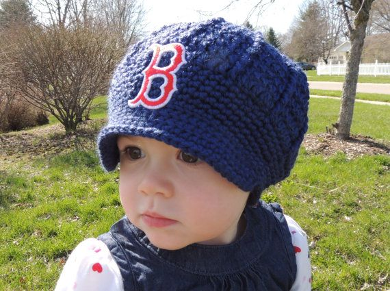 Handmade Boston Red Sox Crochet Newsboy Hat with by LayneCouture on ...