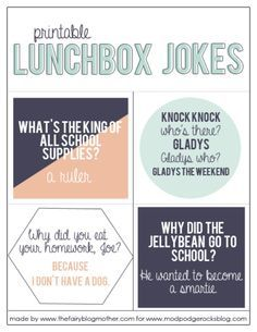 Lunch Box Quotes Google Search Printable Lunch Box Jokes Lunchbox Jokes Jokes For Kids