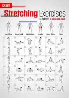 Stretching Exercises | Chart by DAREBEE #darebee #fitness #workout #stretching #fitnesschart<br>